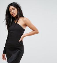 Vesper | Платье мини на одно плечо с длинными рукавами и асимметричным краем Ve | Clouty