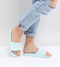 NIKE | Шлепанцы зеленого мятного цвета Nike Kawa - Серый | Clouty