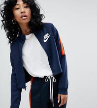 NIKE | Сине-оранжевая спортивная куртка Nike N98 - Синий | Clouty