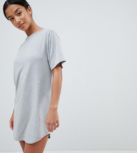 Boohoo | Платье-футболка Boohoo Petite - Серый | Clouty