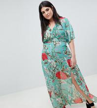 Missguided   Платье макси с цветочным принтом Missguided Plus - Мульти   Clouty