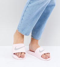 NIKE | Розовые шлепанцы Nike Kawa - Розовый | Clouty