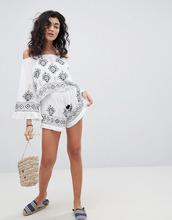 South Beach | Пляжные шорты с оборкой и вышивкой South Beach - Белый | Clouty