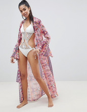Missguided | Пляжное кимоно с принтом Missguided - Мульти | Clouty