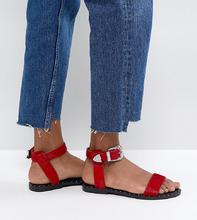 ASOS | Кожаные сандалии в стиле вестерн ASOS FAZ - Красный | Clouty
