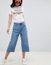 Boohoo | Широкие укороченные джинсы Boohoo - Синий | Clouty