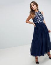 ASOS | Декорированное платье миди с кроп-топом ASOS - Темно-синий | Clouty