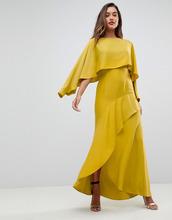 ASOS   Платье-макси с длинными рукавами и разрезом на юбке ASOS - Зеленый   Clouty
