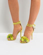 Public Desire | Босоножки на каблуке цвета лайма Public Desire Sugar - Зеленый | Clouty