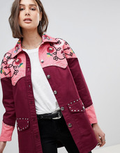 ASOS   Куртка в стиле вестерн с вышивкой ASOS DESIGN - Красный   Clouty