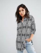 Noisy May | Рубашка со звериным принтом Noisy May Maci - Черный | Clouty