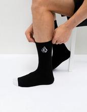 Volcom   Черные носки с логотипом Volcom - Черный   Clouty