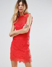 Free People   Кружевное облегающее платье Free People - Розовый   Clouty