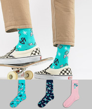 ASOS | 3 пары носков с принтом ASOS - Мульти | Clouty