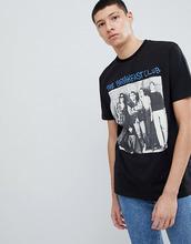 ASOS   Свободная футболка с принтом The Breakfast Club ASOS DESIGN - Черный   Clouty