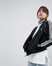 adidas Originals | Черная спортивная куртка с тремя полосками adidas Originals adicolor | Clouty