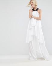 ASOS   Платье макси на бретелях с многослойными оборками ASOS WHITE - Белый   Clouty