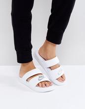 NIKE | Белые шлепанцы с логотипом Nike Benassi - Белый | Clouty