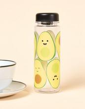 Sass & Belle | Бутылка для воды с принтом авокадо Sass & Belle - 550 мл - Мульти | Clouty