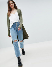 Blend She | Длинный вязаный кардиган Blend She - Зеленый | Clouty