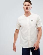 Lyle & Scott | Белая рубашка с бейсбольным воротом и короткими рукавами Lyle & Scott - Белый | Clouty