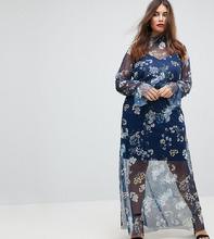 ASOS   Платье макси с принтом ASOS CURVE - Мульти   Clouty
