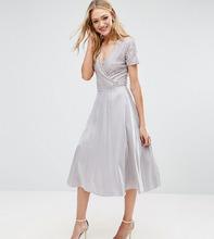 True Decadence | Платье миди для выпускного с кружевным топом и запахом True Decadence | Clouty