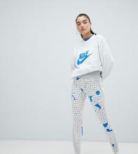 NIKE | Серые леггинсы с принтом Nike Archive эксклюзивно для Asos - Серый | Clouty