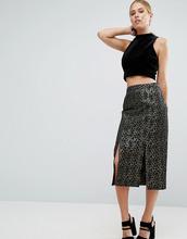 ASOS | Жаккардовая юбка-карандаш со звериным узором металлик ASOS - Мульти | Clouty