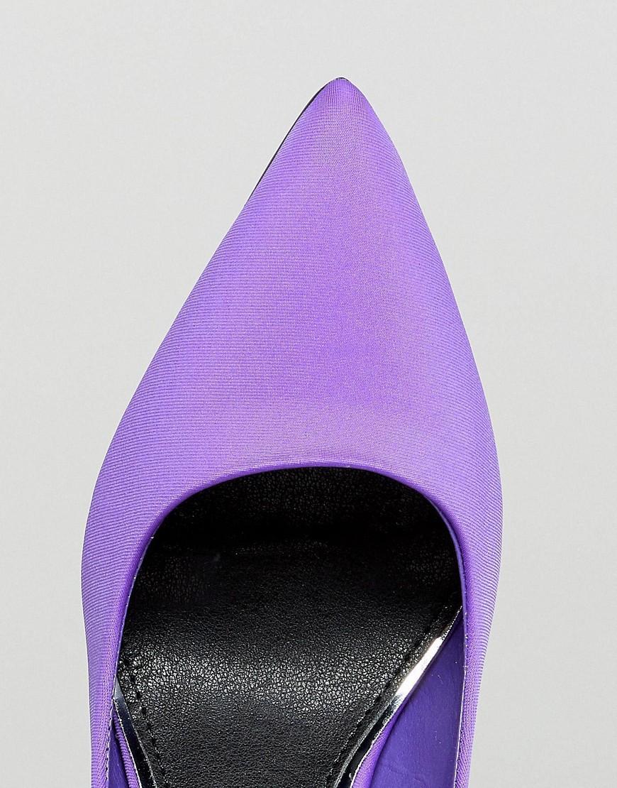 River Island   Туфли-лодочки на каблуке River Island - Фиолетовый   Clouty