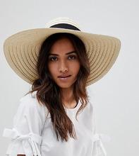 South Beach | Большая соломенная шляпа с бантом South Beach - Бежевый | Clouty