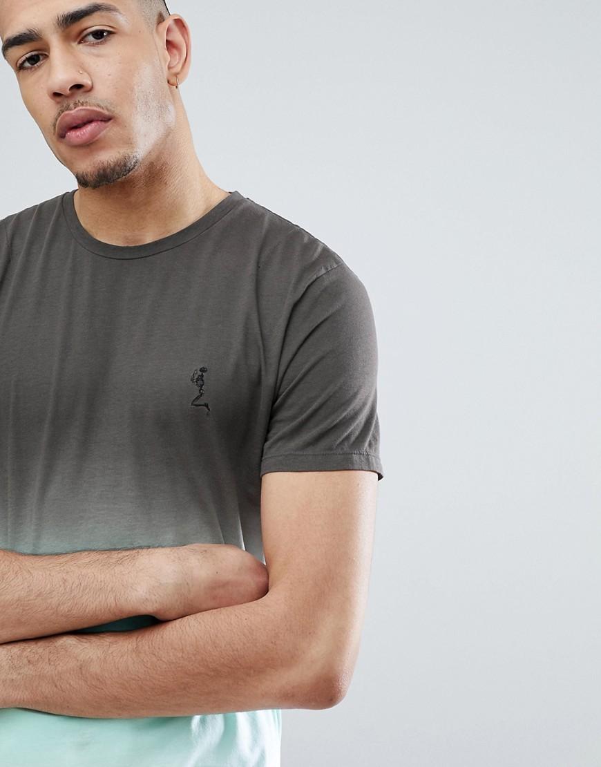 Religion | Длинная футболка с эффектом деграде и закругленным краем Religion TALL - Зеленый | Clouty