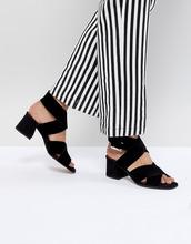 ASOS | Замшевые сандалии с перекрестными ремешками ASOS DESIGN Tosh - Черный | Clouty