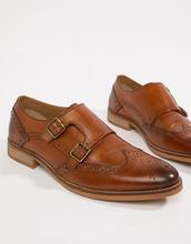 ASOS | Светло-коричневые кожаные монки с контрастной подошвой ASOS DESIGN - Рыжий | Clouty