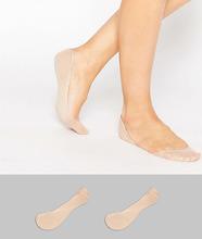 ASOS | 2 пары невидимых носков ASOS DESIGN - Бежевый | Clouty