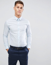 Celio | Голубая эластичная строгая рубашка Celio - Синий | Clouty