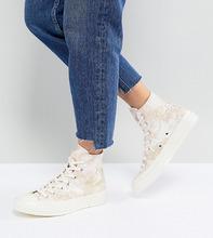 CONVERSE | Высокие жаккардовые кроссовки Converse Chuck '70 - Золотой | Clouty