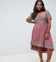Lovedrobe Luxe Plus | Платье с декоративной отделкой Lovedrobe Lux - Фиолетовый | Clouty
