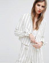 ASOS | Укороченный полосатый пиджак с бантами на манжетах ASOS - Мульти | Clouty