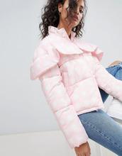 ASOS   Дутая куртка в клетку ASOS - Розовый   Clouty
