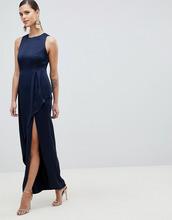 ASOS   Атласное платье макси с многослойной асимметричной юбкой ASOS DESIGN   Clouty