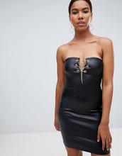 Missguided | Джинсовое платье с покрытием Missguided - Черный | Clouty
