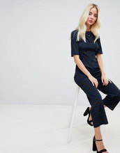 Fashion Union | Комбинезон в горошек с бантами сзади Fashion Union - Черный | Clouty