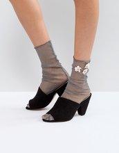ASOS | Носки с блестками и цветочной отделкой ASOS - Серебряный | Clouty