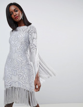 ASOS | Платье с бахромой, декоративной отделкой и вырезом на спине ASOS EDITI | Clouty