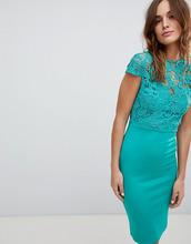 Club L | Платье миди с высоким воротом и короткими рукавами Club L - Зеленый | Clouty