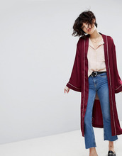 J.O.A. | Атласный пиджак-кимоно J.O.A - Красный | Clouty