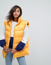 TOMMY Jeans   Дутый жилет Tommy Jeans - Желтый   Clouty
