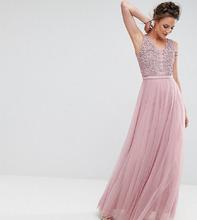 Little Mistress   Платье макси для выпускного с цветочной аппликацией Little Mistress Ta   Clouty