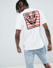 Element | Белая футболка с принтом на спине Element x Keith Haring - Белый | Clouty